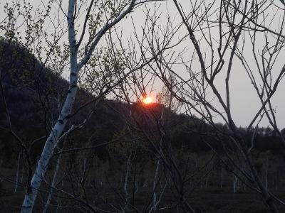 真っ赤な日没ショー