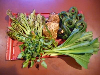 山菜あふれる食卓