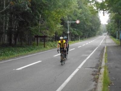 自転車の外国人