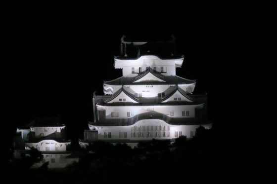 姫路城ライトアップ1