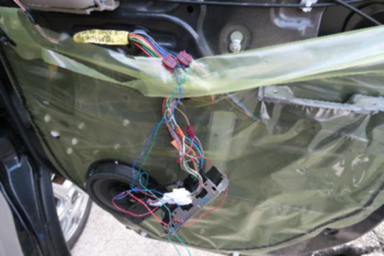 ドアミラー自動格納ユニット取り付け7