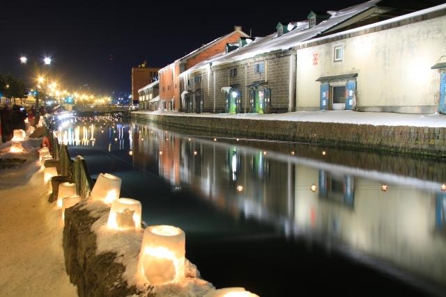 小樽運河周辺雪あかりの路