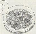 ブロッコリーとじゃことのりたまのスパゲッティー図