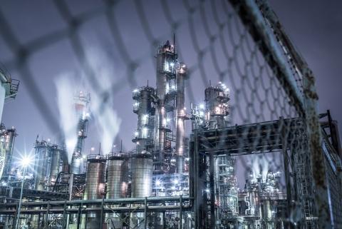 工業地帯の夜