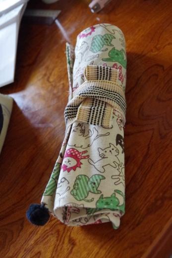 カトラリーケース 布製 巻き巻き方式
