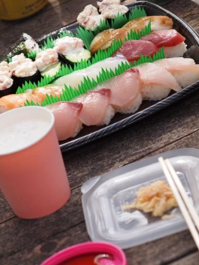 20160402 お花見でお寿司