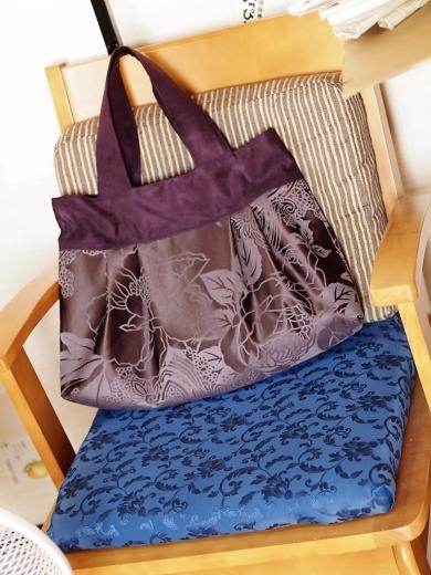 鎌倉スワニーの本を見て作ったタック入りバッグ