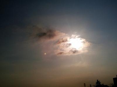 20160707夕方の太陽