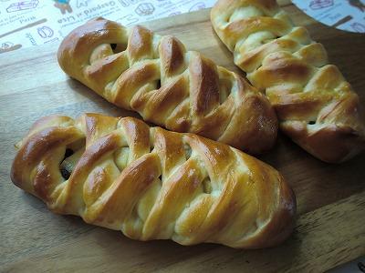 リンゴの編みパン