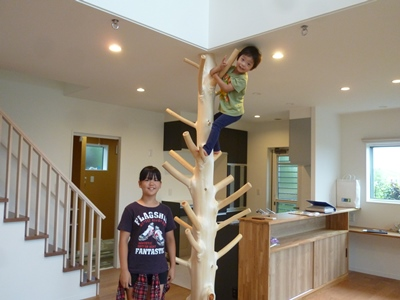 木登り柱とお子様