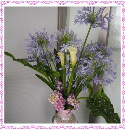 玄関の花2