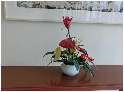 アレンジメントされた花