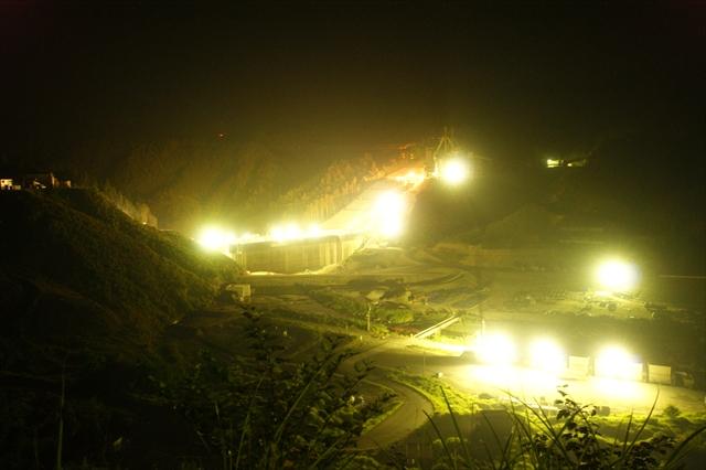伊良原ダム建設現場-2