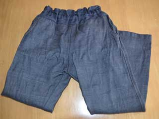 ストレッチデニムで作った娘のズボン