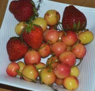 イチゴとさくらんぼ
