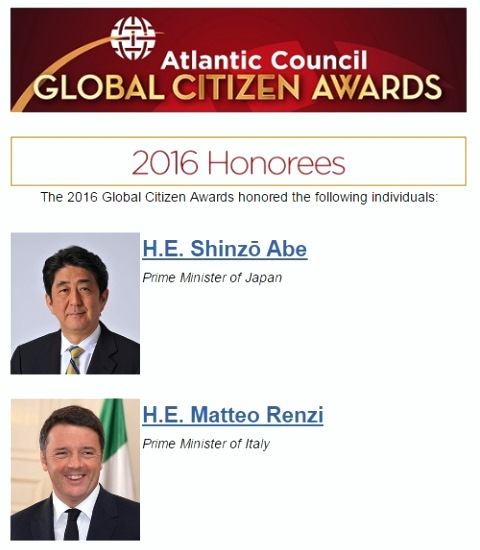 2016 Global Citizen Awards honored