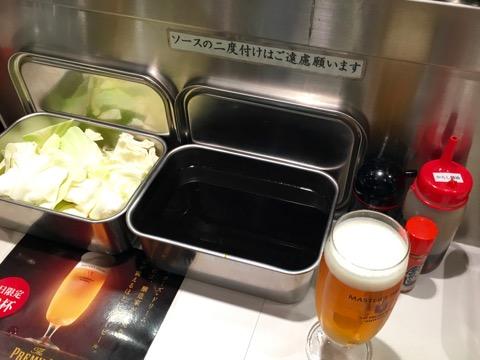 ソースとビール