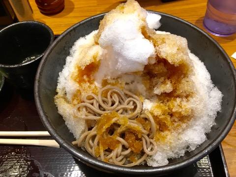 かき氷蕎麦