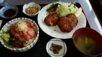 ネギトロ丼とサンガ