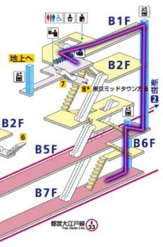 大江戸線構内図