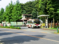 五日市街道営業所第2プール内バス停(折返設備)