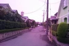 台風前の朝焼け