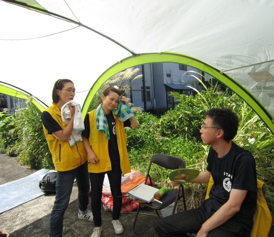 山岳マラソン 待機する救護班