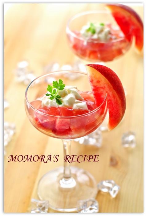 桃のクラッシュゼリー&コンポート (1)