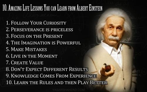 01 Einstein02 life lessons