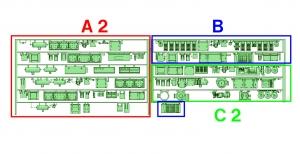 ⑤ 4連 BLMGワンマン編成(A2 _ B _ C2)