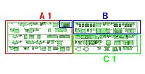 ③ 4連 DCMG編成(A1 _ B _ C1)