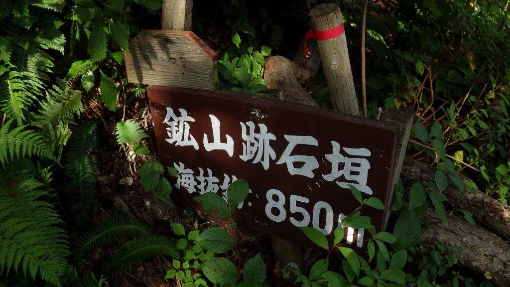 838鉱山跡石垣