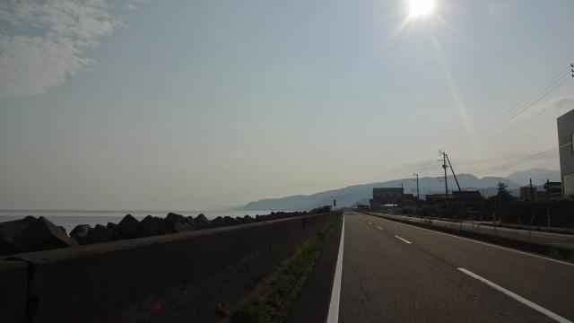 糸魚川の国道8号線