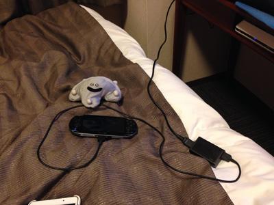 ホテルでPSO2
