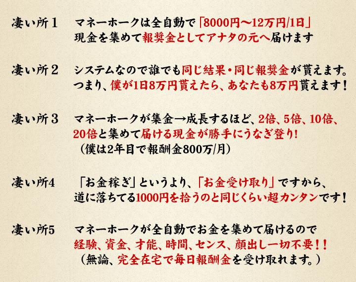 加藤明 成長型集金ペット「マネーホーク」2