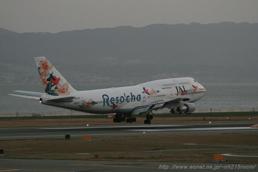 JAL B747-346 / JA8183 Reso'cha (2007.1.7)
