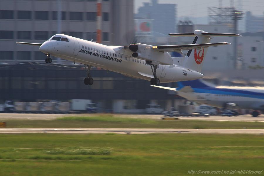 JAC DHC-8-402Q / JA846C@RWY14Rエンド・猪名川土手