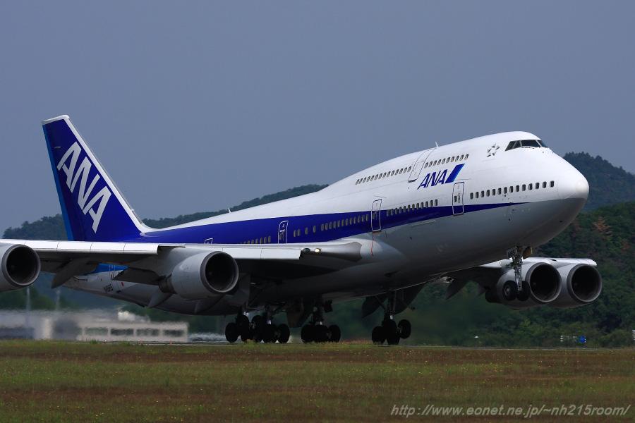 ANA B747-481D / JA8965@広島空港 (2009.5.23)