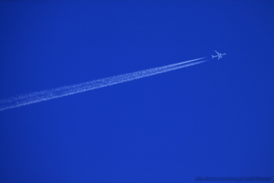 Contrail by ANA B787-8@RWY14Rエンド・伊丹リサイクルセンター周辺