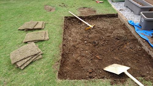 芝生張り替え