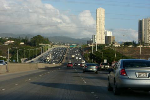 ハワイのフリーウェイ
