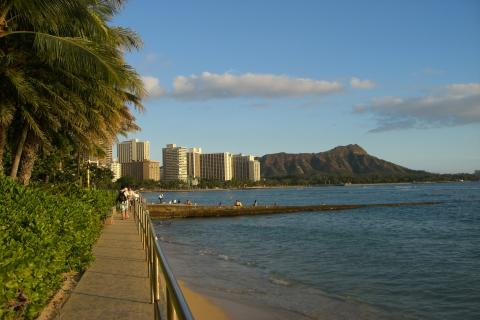 waikiki beach & diamondhead