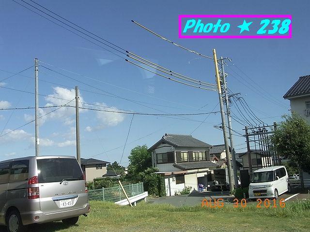電柱と駐車場