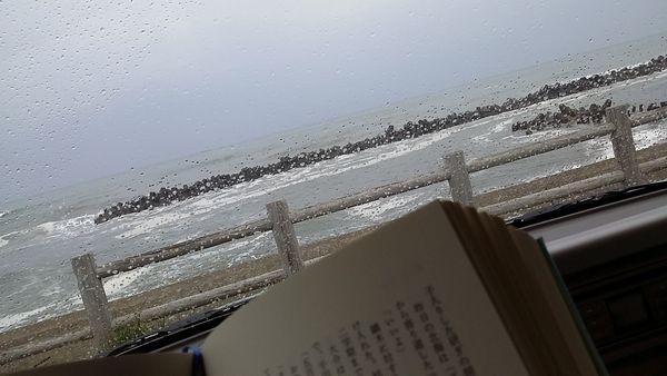 雨の中の修業読書