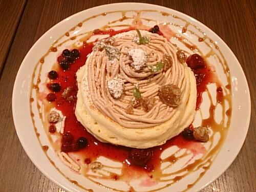 高倉町珈琲 マロンクリームパンケーキ