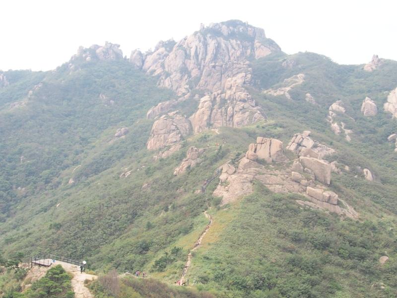 縦走路から見える九井峰図