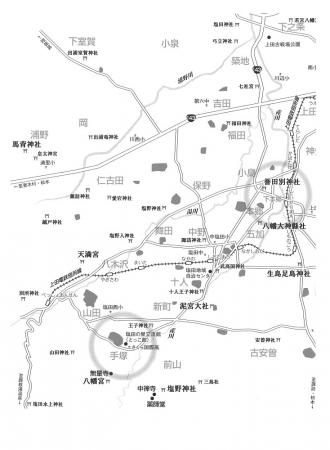 上田の地図西側 上原さんの本