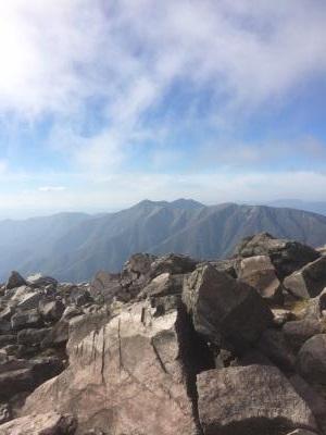 那須 茶臼岳山頂から裏手を望む