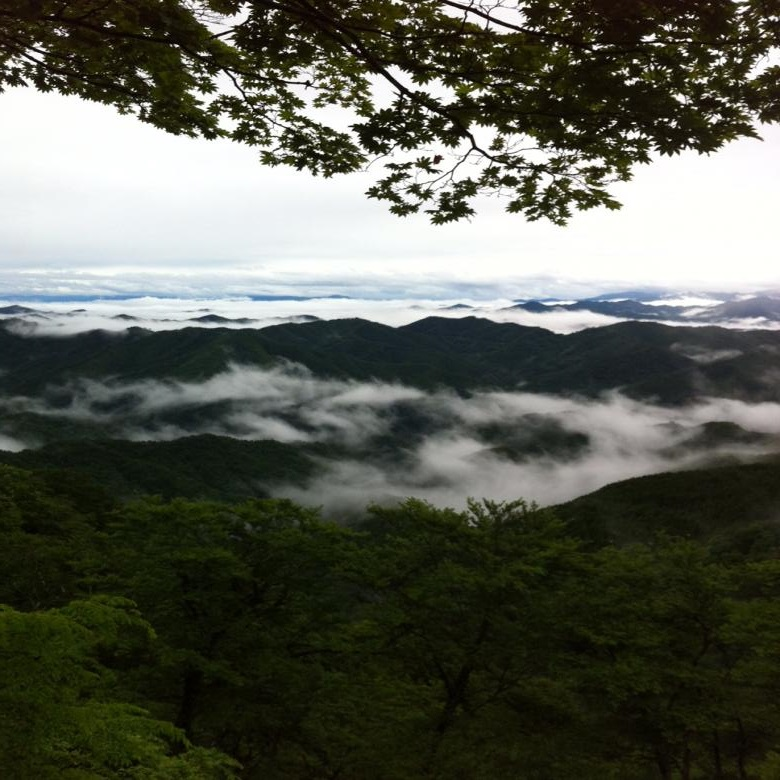 高野山奥座敷 秘境 立里荒神より熊野方面を望む