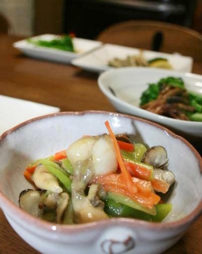貝の辛子酢味噌